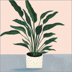 Wall sticker  Palm in point pot - Victoria Borges