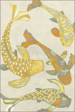 Wall sticker  Golden Koi I - Chariklia Zarris