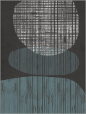 Foam board print  Resting Shapes I - Jennifer Goldberger