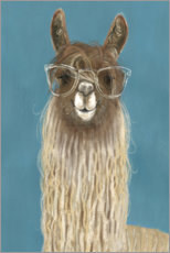 Canvas print  Lama with glasses IV - Victoria Borges