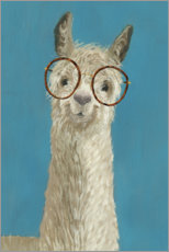 Canvas print  Lama with glasses III - Victoria Borges