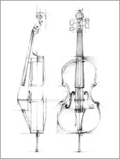 Canvas print  Cello Sketch - Ethan Harper
