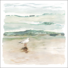 Gallery print  Seagull on the beach I - Victoria Borges