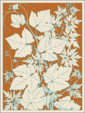Premium poster Leaf collection I