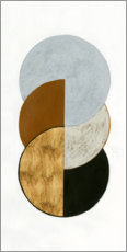 Wood print  Stacked Coins II - Grace Popp