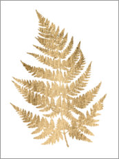 Canvas print  Golden Fern IV - Studio W