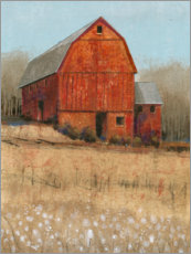 Premium poster Red barn view