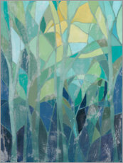 Aluminium print  Stained Glass Forest I - Grace Popp