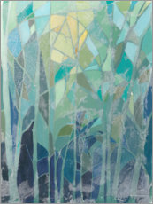 Wood print  Stained Glass Forest II - Grace Popp