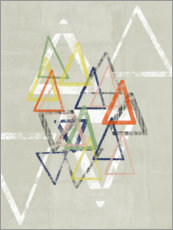 Premium poster Stamped Triangles II