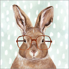 Canvas print  Bunny with glasses - Victoria Borges