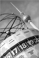 Premium poster  World clock, Berlin - Jean Schwarz