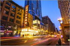 Canvas print  Chicago Theatre by night - Fraser Hall