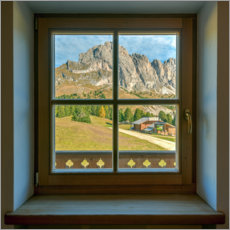 Premium poster Window view in the Dolomites