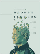 Wall sticker  Broken Flowers - Fourteenlab