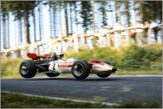 Wall sticker  Jochen Rindt, Lotus 49B Ford, Formula1 Nürburgring 1969