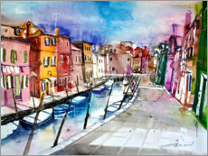 Acrylic print  Burano, colourful island in Venice - Johann Pickl