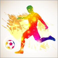 Wall sticker Soccer player silhouette