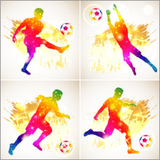 Premium poster  Footballer collage - TAlex