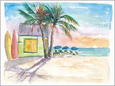 Premium poster  Surf bar on the beach in the Caribbean - M. Bleichner
