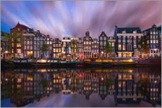 Premium poster  Amsterdam at night - George Pachantouris