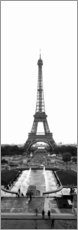Acrylic print  Eiffel Tower at Place du Trocadero