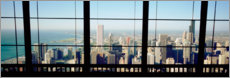 Canvas print  See Chicago through a window