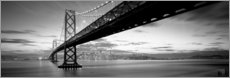 Canvas print  Bay Bridge in San Francisco