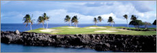 Canvas print  Golf course in Hawaii