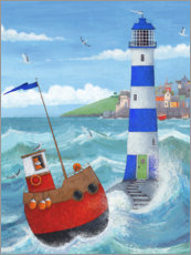 Premium poster Blue Lighthouse