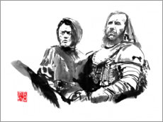 Foam board print  Arya and Clegane - Péchane