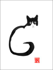 Canvas print  Cat silhouette - Péchane