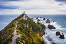 Aluminium print  Nugget Point Lighthouse in New Zealand - Igor Kondler