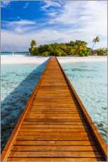 Canvas print  Jetty to the island, Maldives - Matteo Colombo