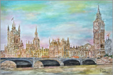 Premium poster  Westminster Palace with Westminster Bridge - Gerhard Kraus