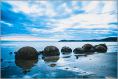 Aluminium print  Blue hour at the Moeraki Boulders - Igor Kondler