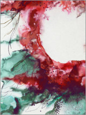 Acrylic print  Abstract floral explosion - Sybille Sterk