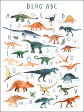 Canvas print  Happy Dinosaur ABC - Victoria Borges