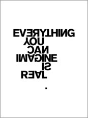Canvas print  Everything you can imagine is real (Pablo Picasso) - THE USUAL DESIGNERS