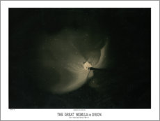 Acrylic print  The great Orion Nebula, vintage - Wunderkammer Collection