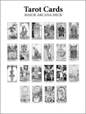 Acrylic print  Tarot cards - Wunderkammer Collection