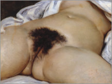 Canvas print  The origin of the world - Gustave Courbet