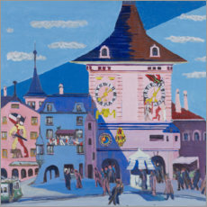 Acrylic print  Bern with Belltower - Ernst Ludwig Kirchner