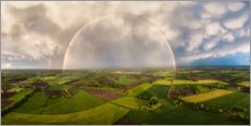 Canvas print  Rainbow from above - Martin Podt