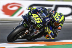Wall sticker  Valentino Rossi, Yamaha Factory Racing, Valencia GP 2019