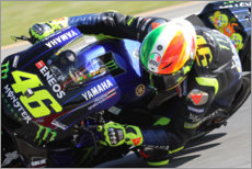 Canvas print  Valentino Rossi, Yamaha Factory Racing, Italian GP 2019