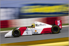 Canvas print  Ayrton Senna, McLaren MP4-8 Ford, Kyalami South Africa 1993
