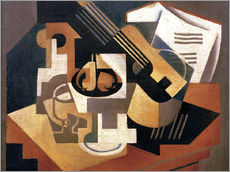 Wall sticker  Guitar and fruit bowl - Juan Gris