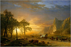 Wall sticker  Wagon Train on the Prairie - Albert Bierstadt