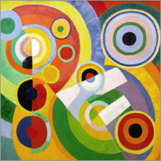 Wood print  Joy of life - Robert Delaunay